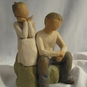 Demdaco Willow Tree BROTHER & SISTER Figurine